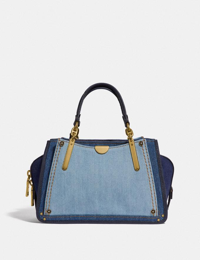 Coach Dreamer 21 in Colorblock Denim/Brass New Featured Selena Gomez in Coach Alternate View 2