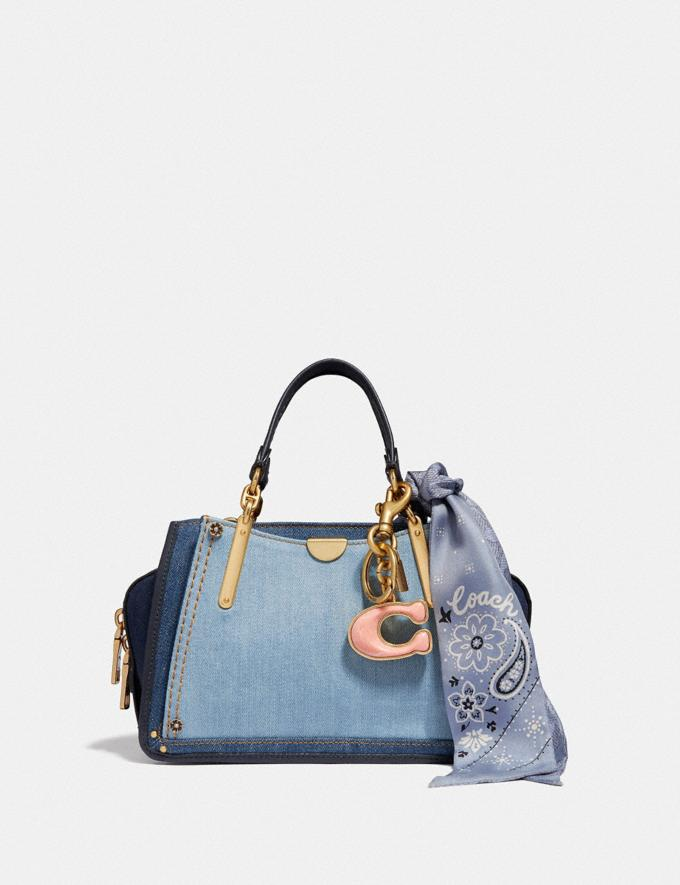 Coach Dreamer 21 in Colorblock Denim/Brass New Featured Selena Gomez in Coach Alternate View 4