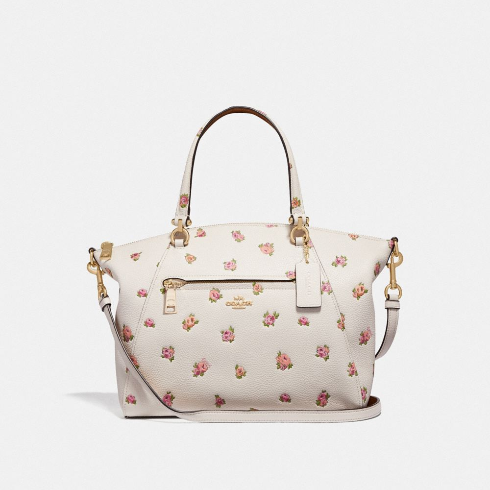 prairie satchel with floral print