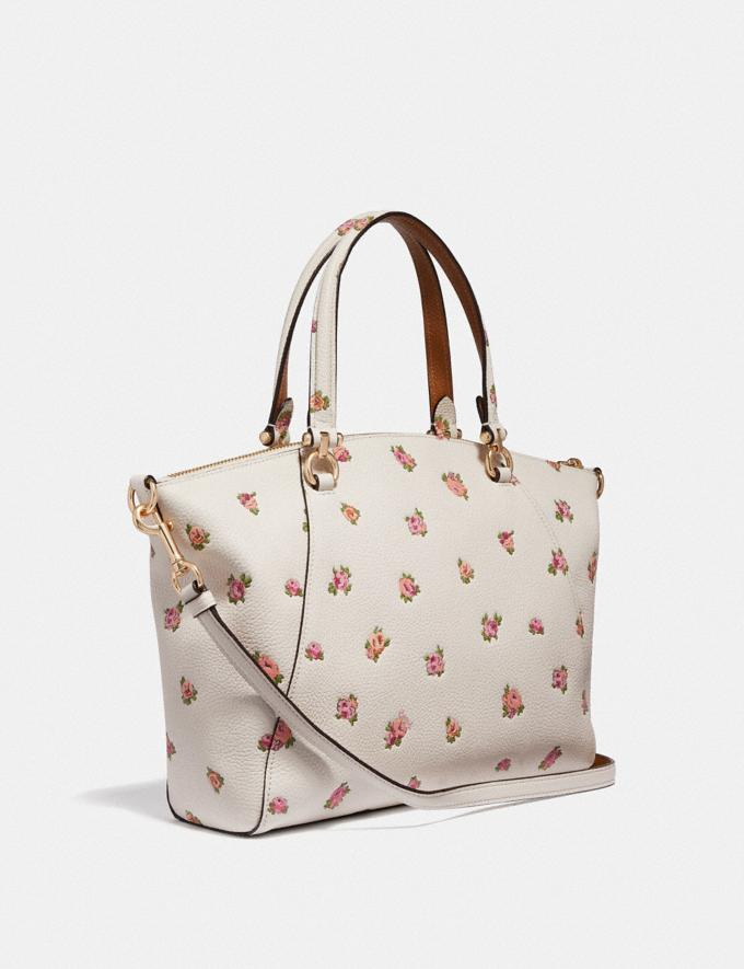 Coach Prairie Satchel With Floral Print Chalk/Gold Women Bags Satchels & Carryalls Alternate View 1