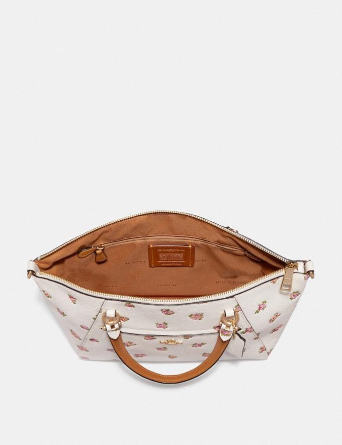 Coach Prairie Satchel With Floral Print Chalk/Gold Women Bags Satchels & Carryalls Alternate View 2
