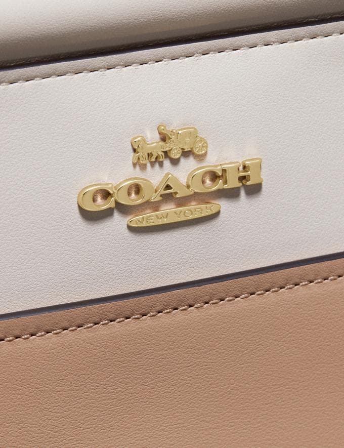 Coach Grace Bag in Colorblock Beechwood Multi/Gold Women Bags Satchels & Carryalls Alternate View 4