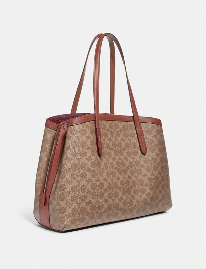 Coach Charlie Carryall 40 in Signature Canvas Copper/Tan Rust Women Edits Travel Alternate View 1