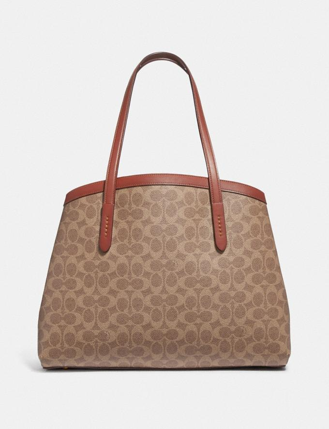 Coach Charlie Carryall 40 in Signature Canvas Copper/Tan Rust Women Bags Satchels Alternate View 2