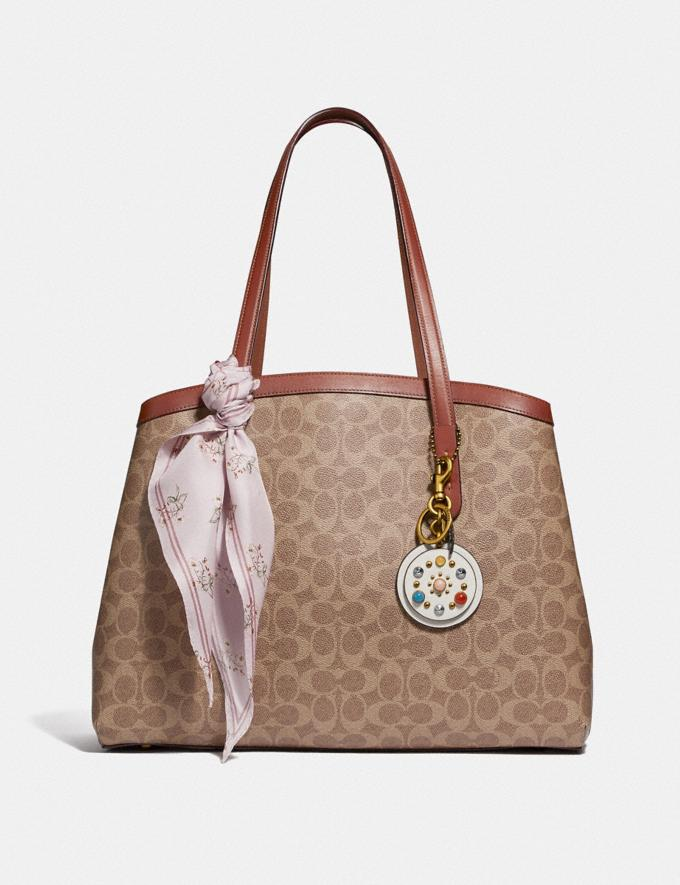 Coach Charlie Carryall 40 in Signature Canvas Copper/Tan Rust Women Edits Travel Alternate View 4
