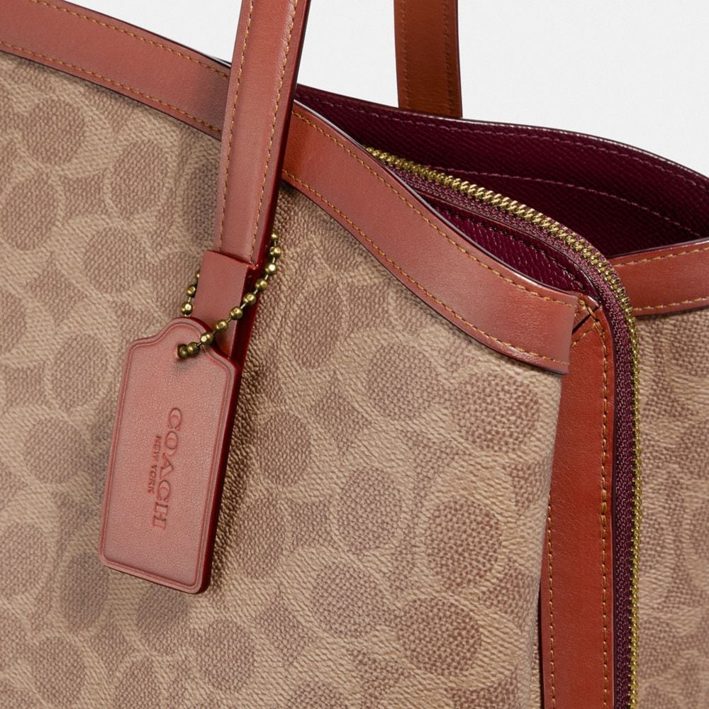 Coach Charlie Carryall 40 in Signature Canvas Alternate View 6