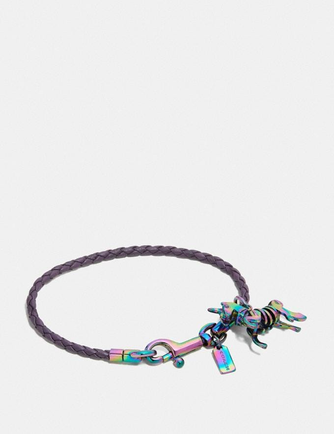 Coach Braided Charm Friendship Bracelet Dusty Lavender/Oil Slick New Women's New Arrivals Accessories