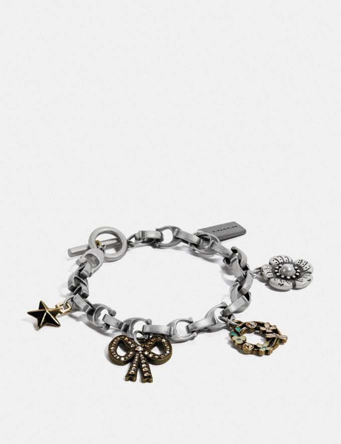 Coach Charm Bracelet Multi/Silver Women Accessories Jewellery Bracelets