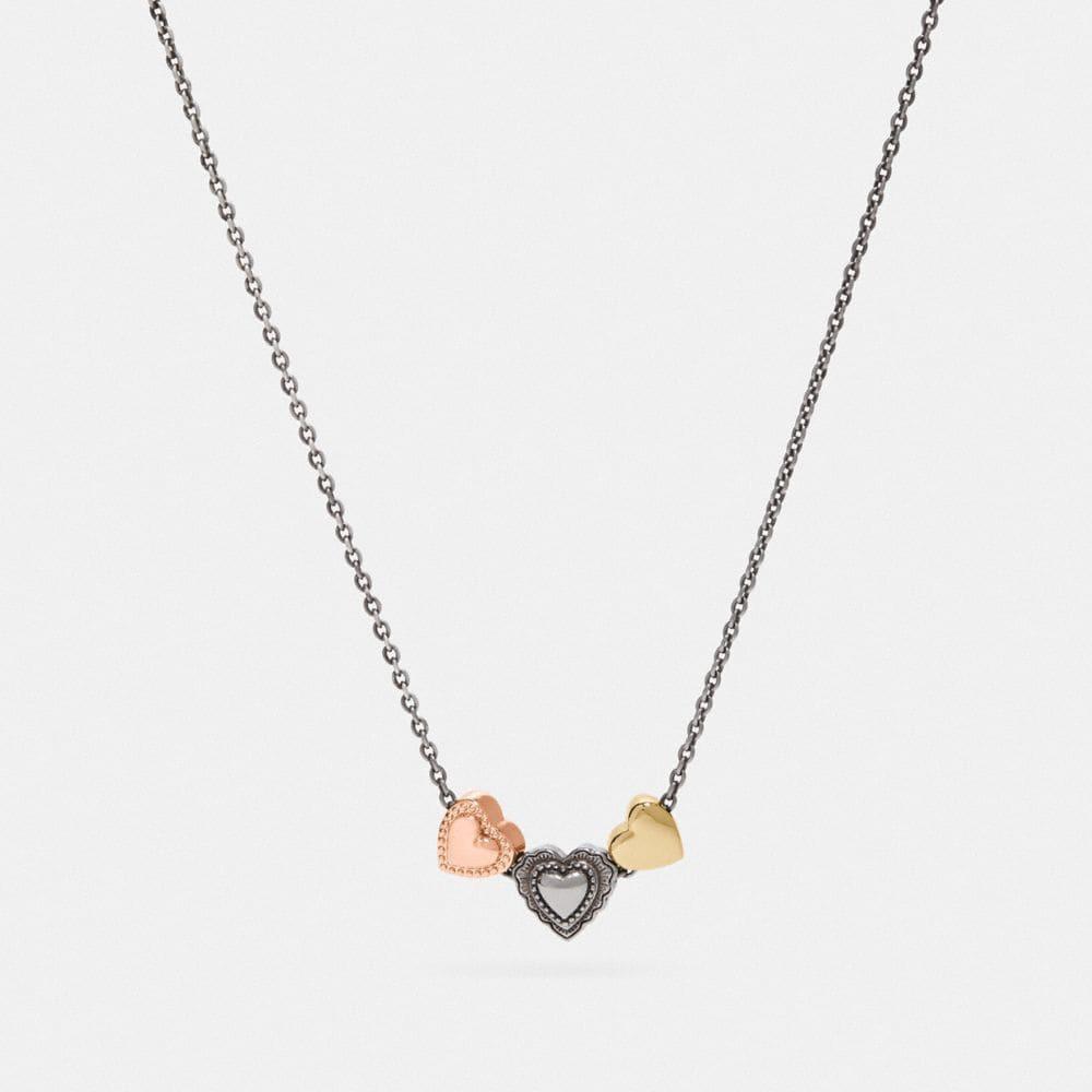 Coach Scallop Heart Slider Necklace