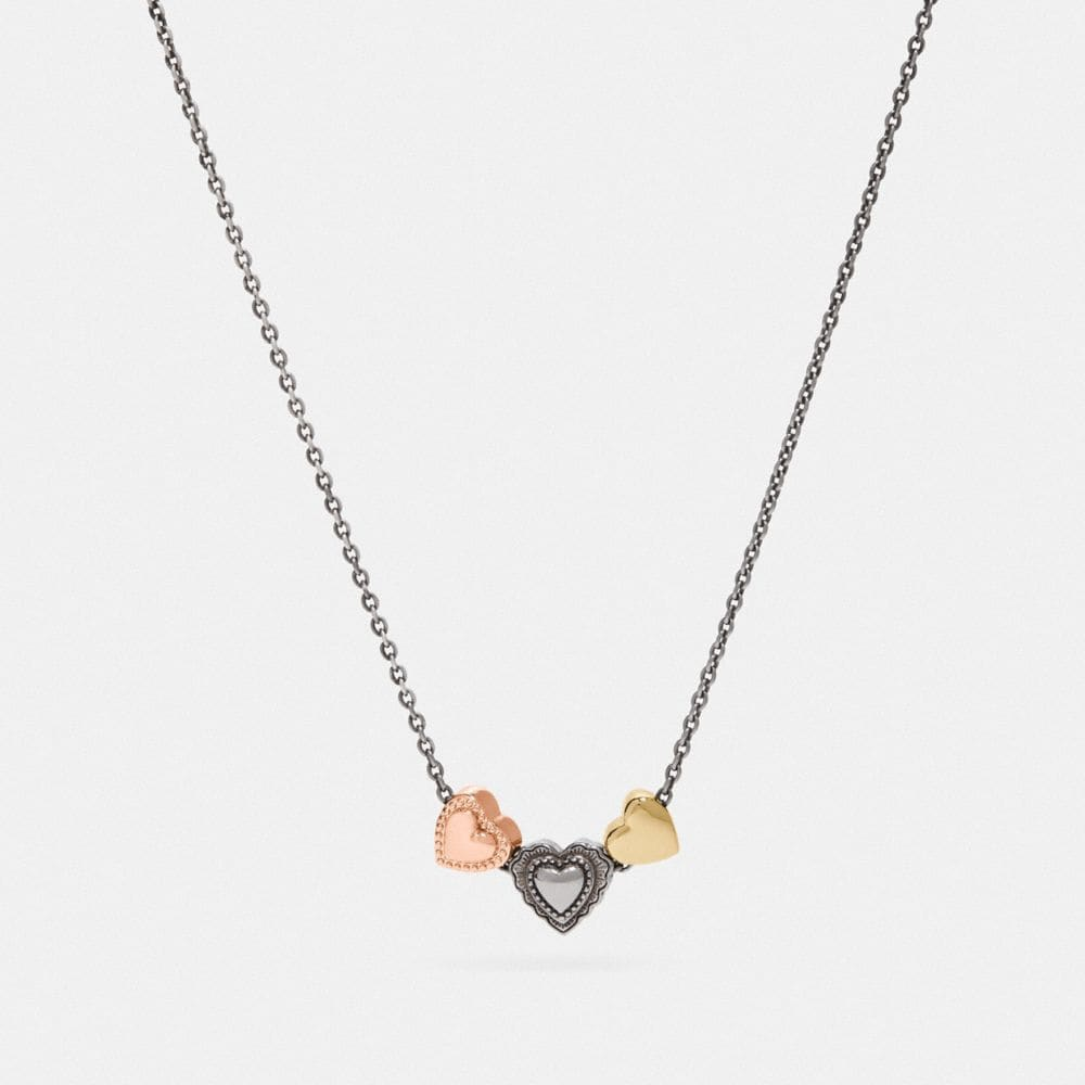 Coach Scallop Heart Slider Necklace