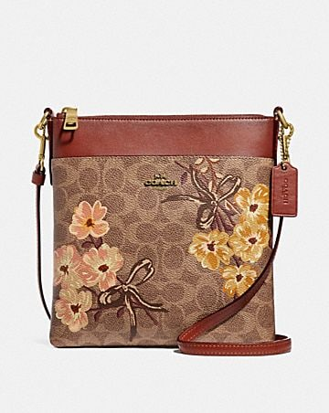 KITT MESSENGER IN SIGNATURE CANVAS WITH PRAIRIE FLORAL PRINT