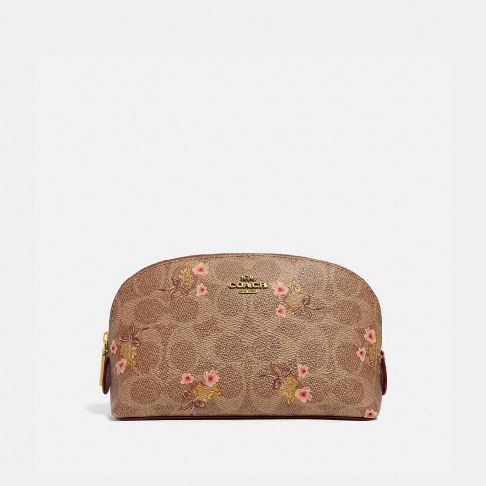 COSMETIC CASE 17 IN SIGNATURE CANVAS WITH FLORAL PRINT