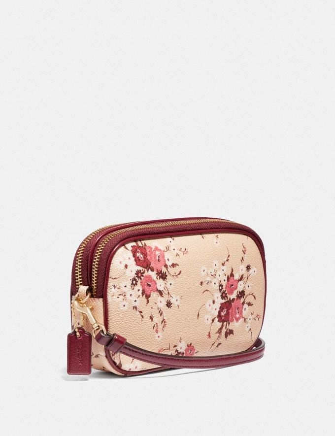 Coach Sadie Crossbody Clutch With Floral Bundle Print Gold/Beechwood Floral Bundle  Alternate View 1