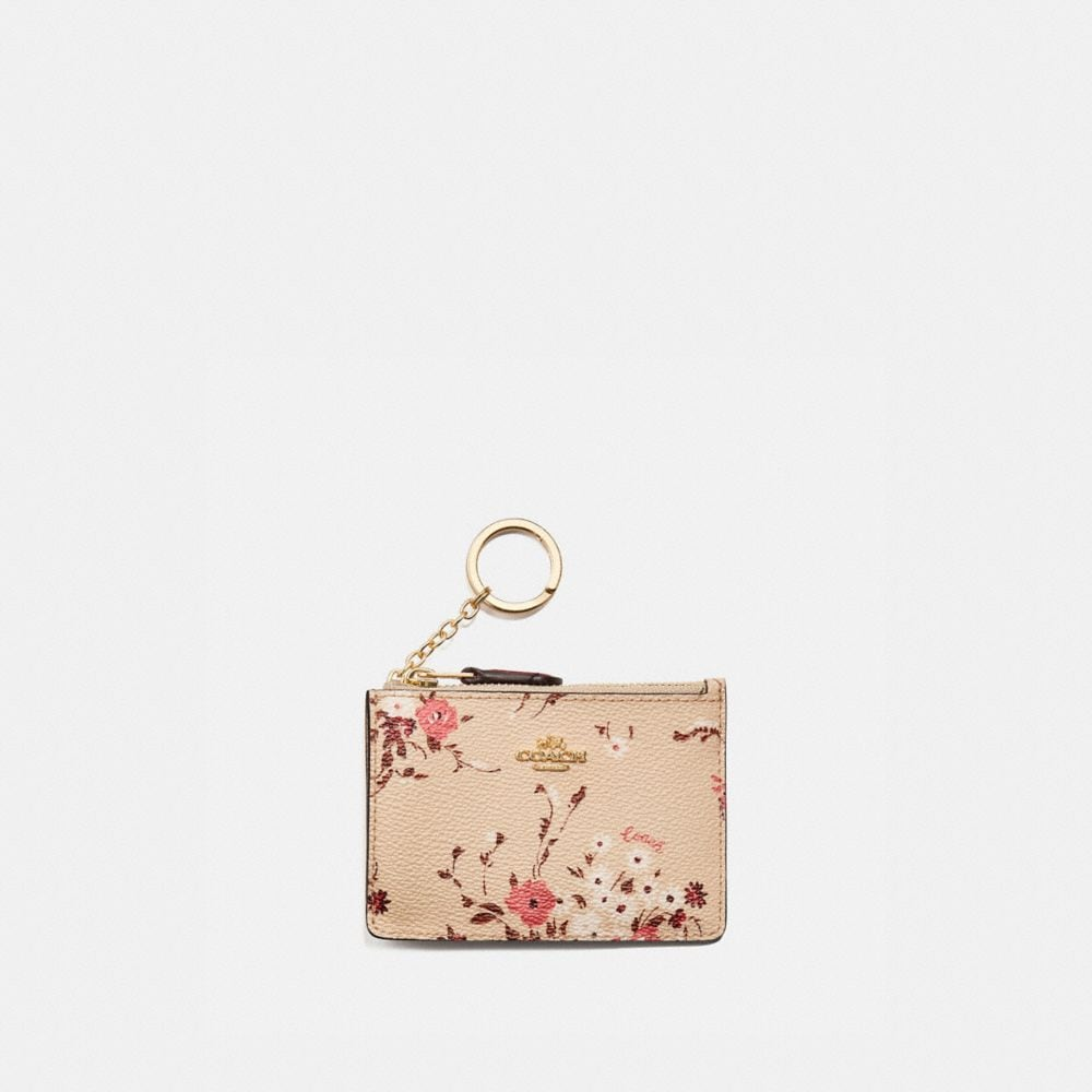 Coach Mini Skinny Id Case With Floral Bundle Print