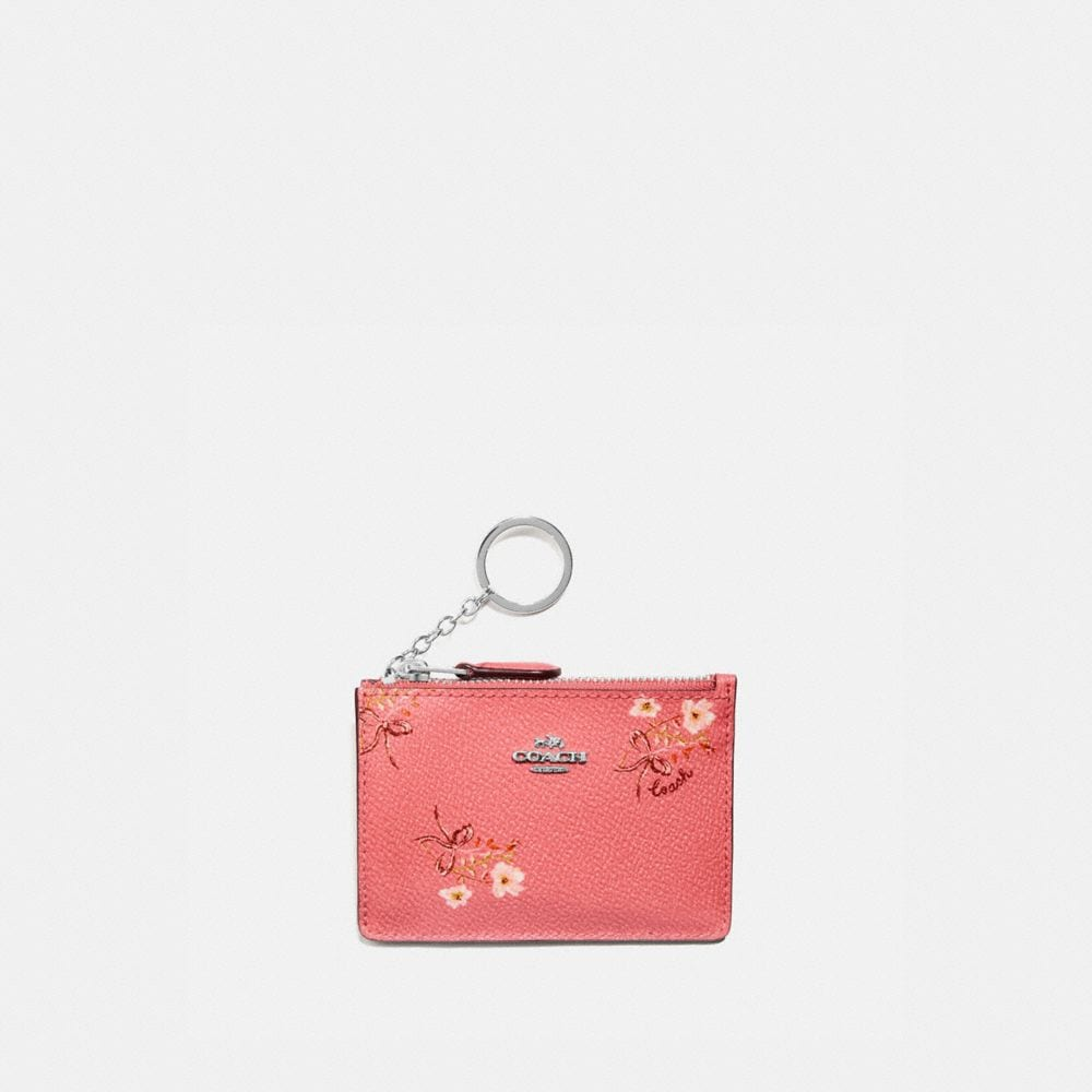 Coach MINI SKINNY ID CASE WITH FLORAL BOW PRINT