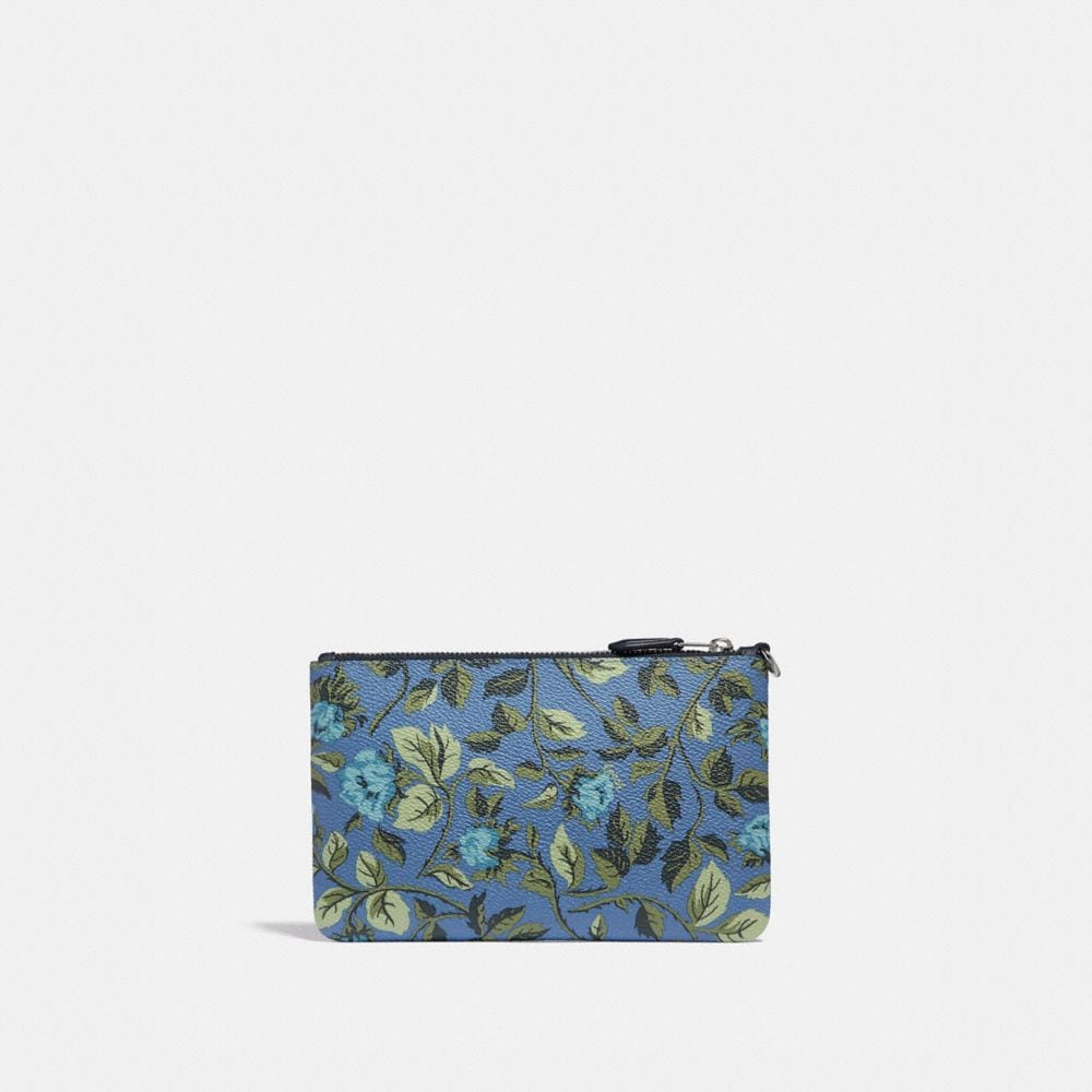 Coach Small Wristlet With Sleeping Rose Print Alternate View 1