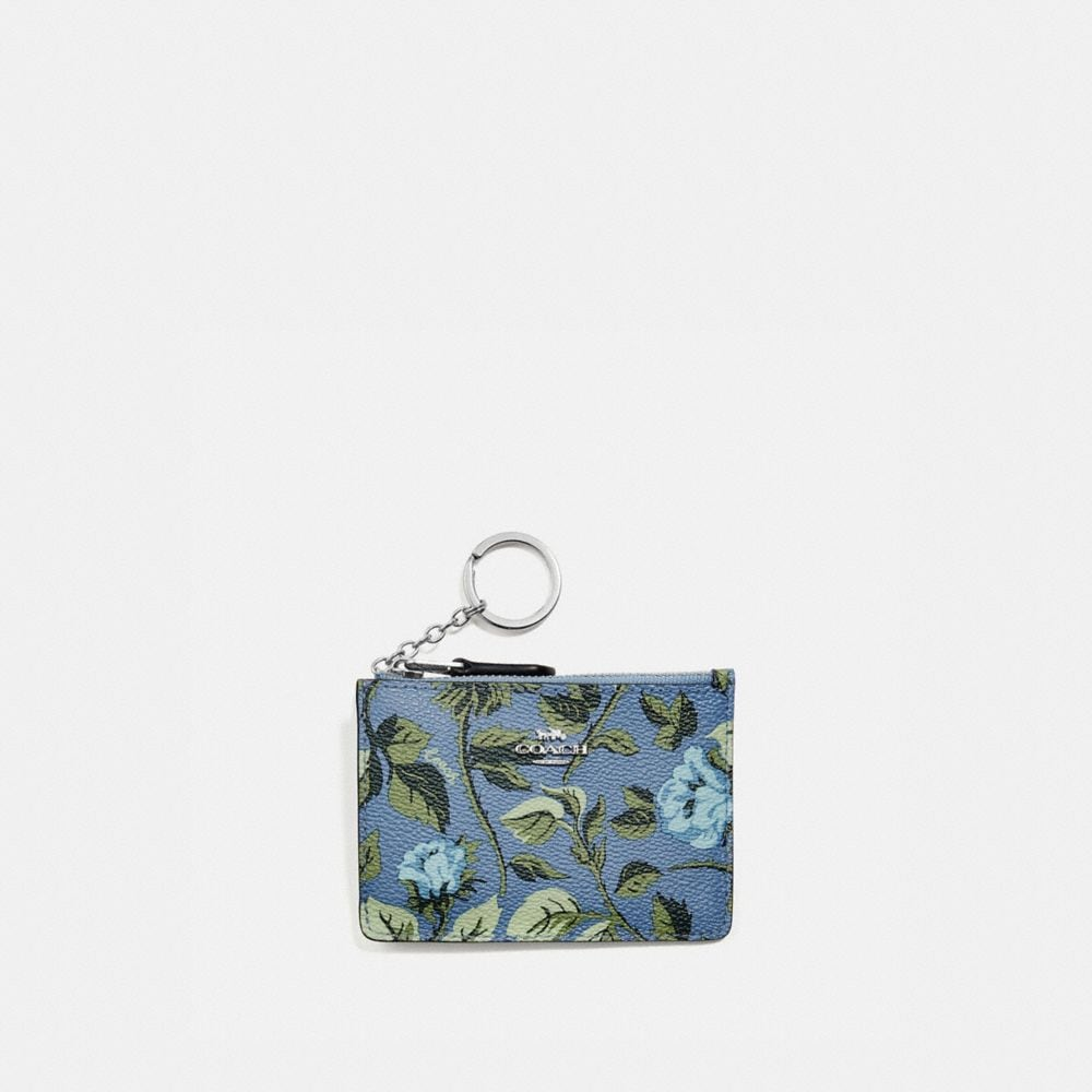 mini skinny id case with sleeping rose print