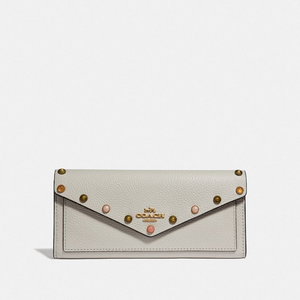 Coach Soft Wallet With Rivets