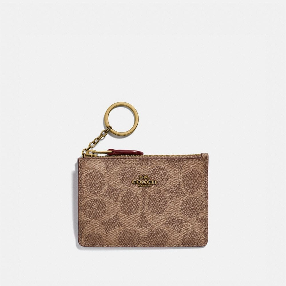 Coach Mini Skinny Id Case in Colorblock Signature Canvas
