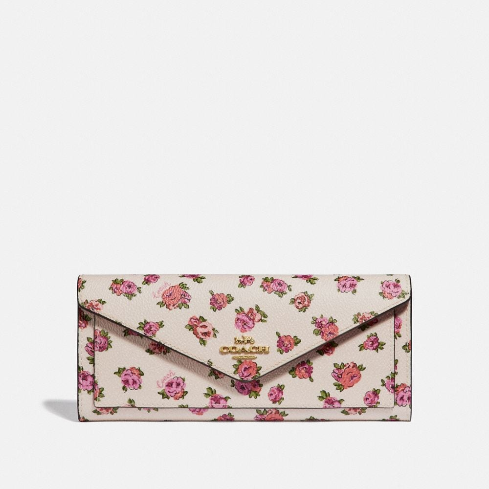 Coach Soft Wallet With Mini Vintage Rose Print