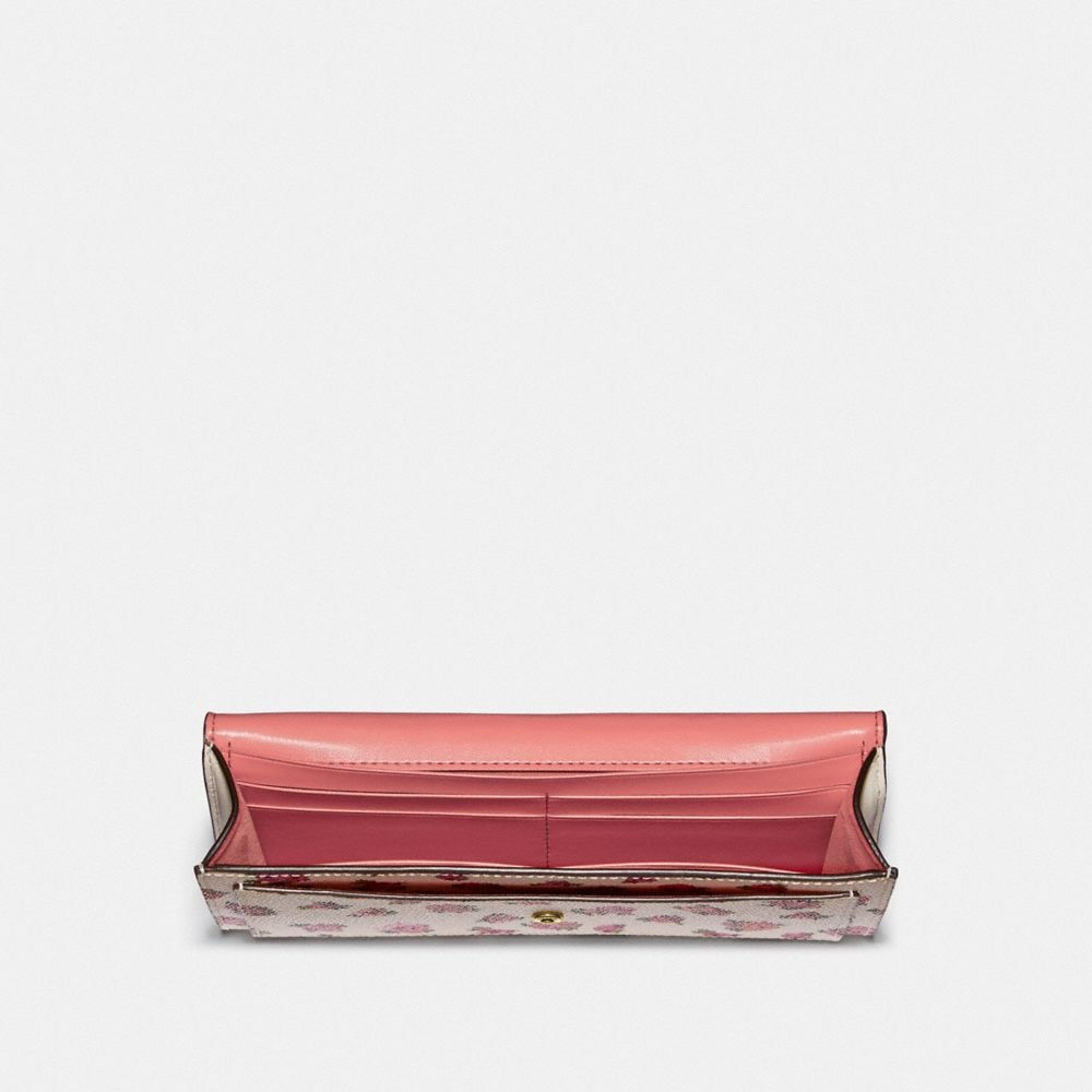 Coach Soft Wallet With Mini Vintage Rose Print Alternate View 1