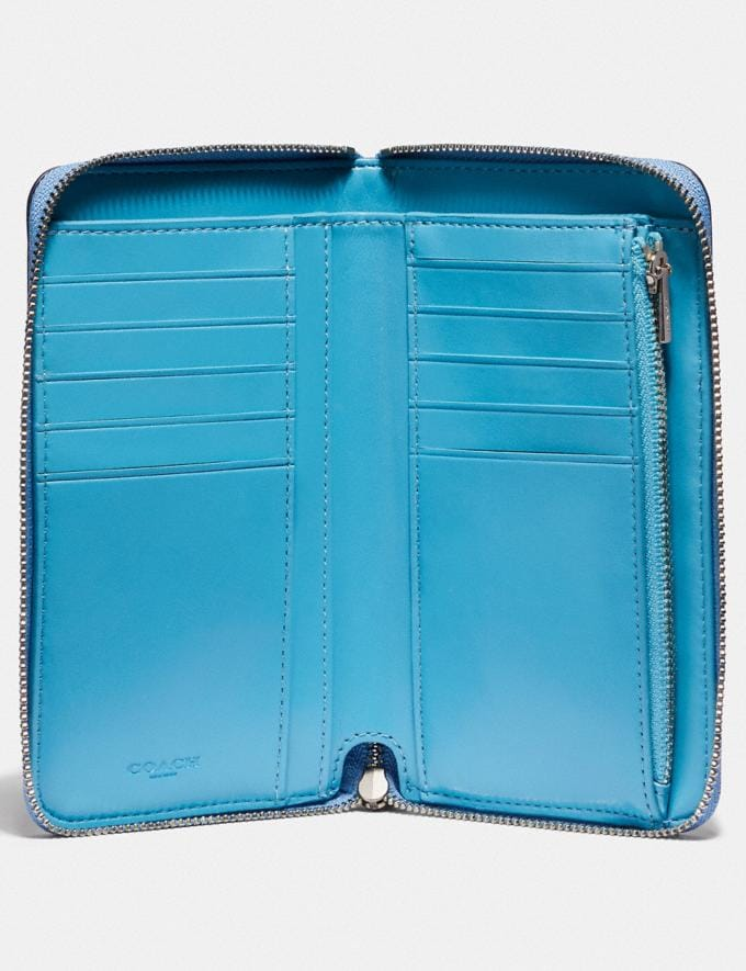 Coach Medium Zip Around Wallet With Sleeping Rose Print Slate Sleeping Rose/Silver 30% off Select Full-Price Styles Alternate View 1