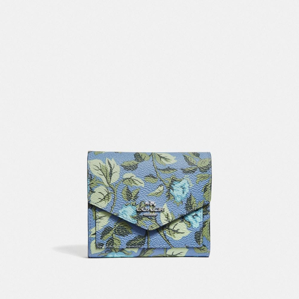 Coach Small Wallet With Sleeping Rose Print