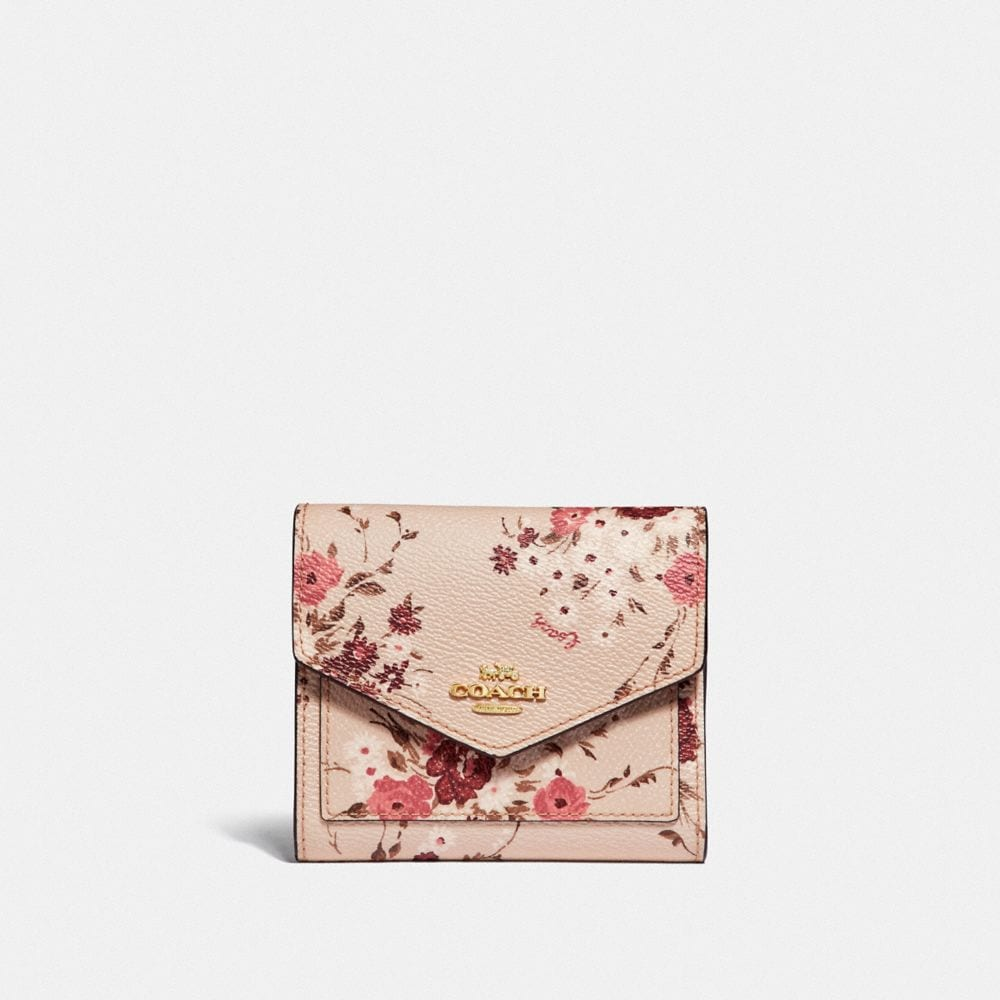 SMALL WALLET WITH FLORAL BUNDLE PRINT