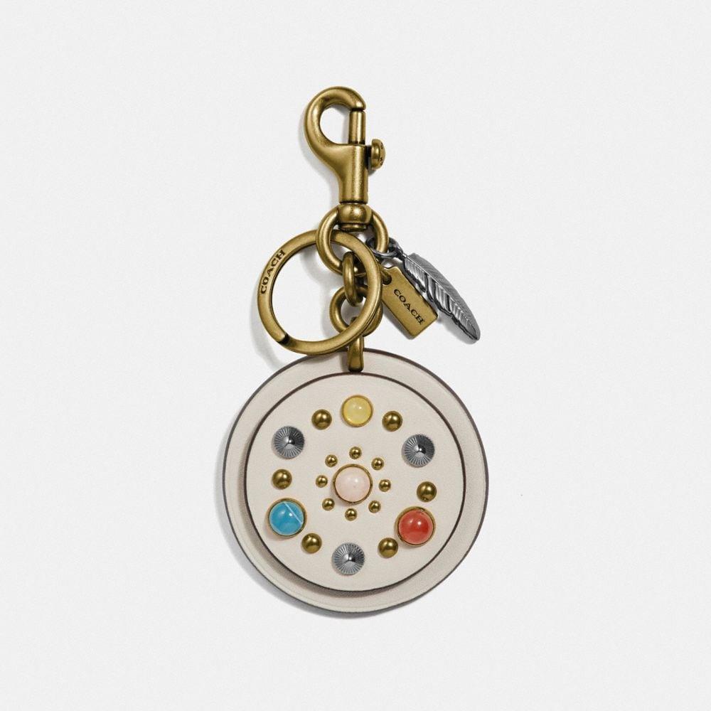 circle rivets bag charm