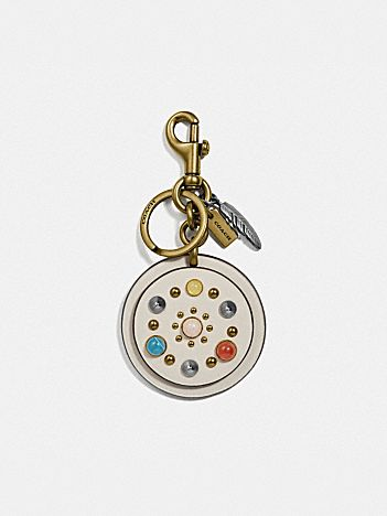 circle rivets bag charm