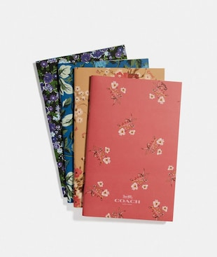 NOTEBOOK SET WITH FLORAL PRINT