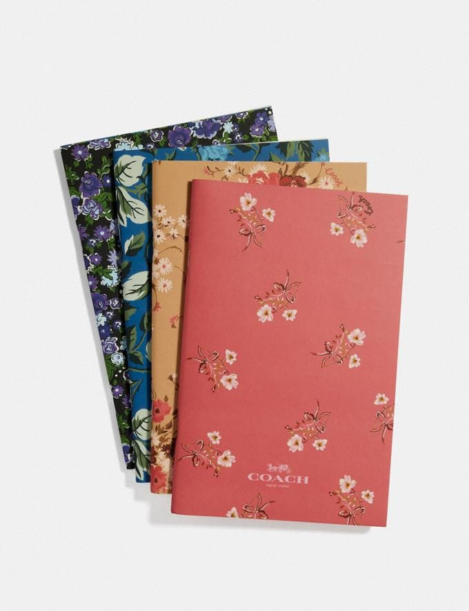 Coach Notebook Set With Floral Print Multi SALE Women's Sale Accessories