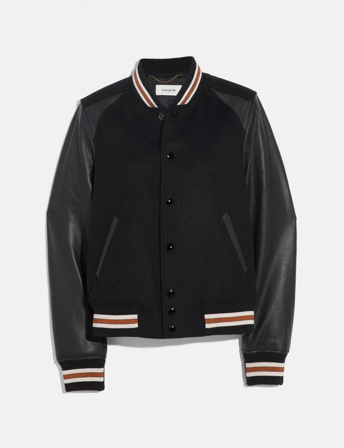 Coach Blank Varsity Jacket Black