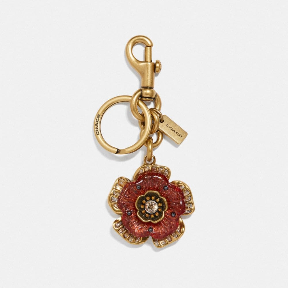 tea rose bag charm
