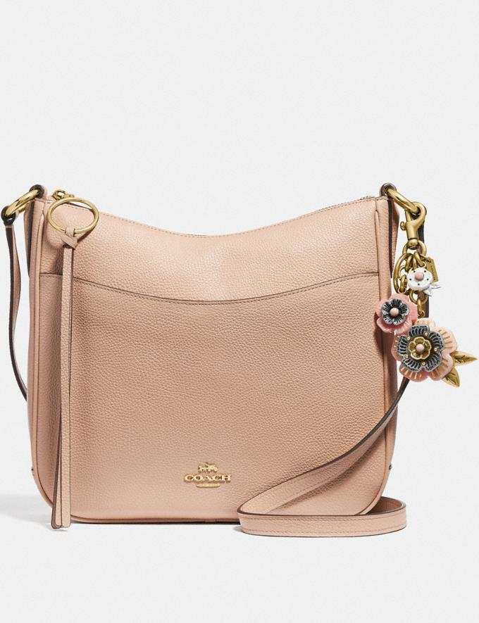 Coach Tea Rose Mix Bag Charm Light Coral/Brass Women Accessories Bag Charms & Key Rings Alternate View 2