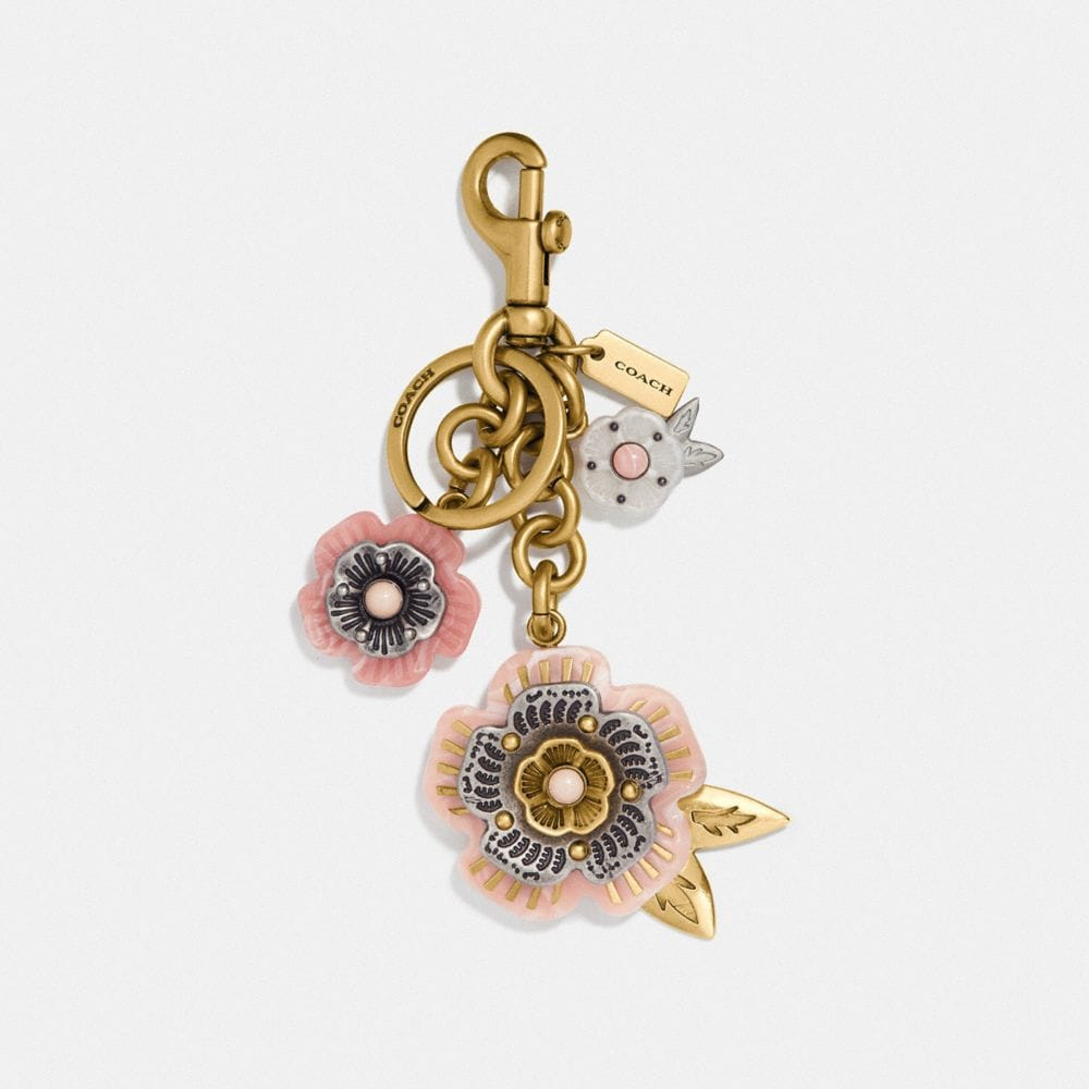 Coach Tea Rose Mix Bag Charm