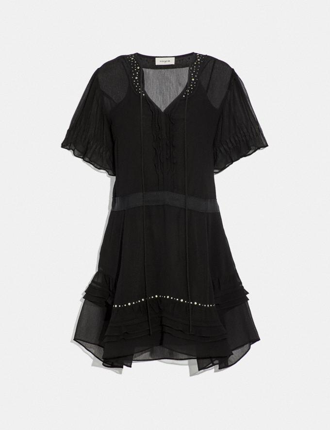 Coach Tiered Dress Black SALE Women's Sale Ready-to-Wear