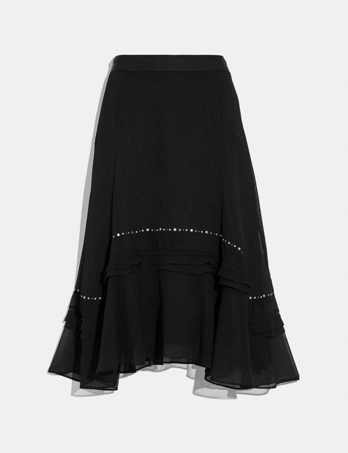 Coach Long Embellished Skirt Black Women Ready-to-Wear Bottoms