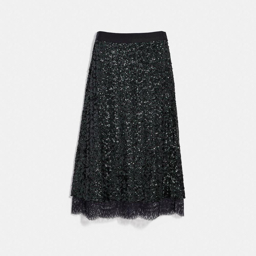 Coach Sequin Skirt
