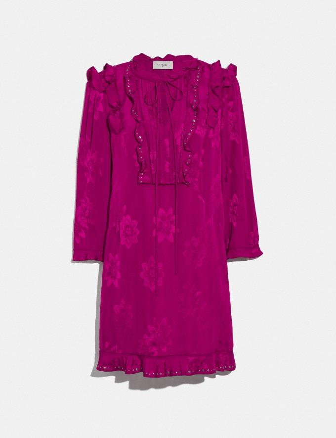 Coach Ruffle Dress Fuschia SALE Women's Sale Ready-to-Wear