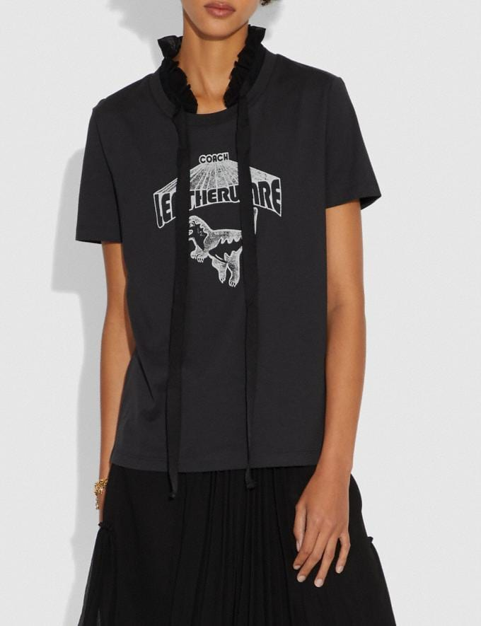 Coach Rexy T-Shirt Dark Shadow Women Ready-to-Wear Tops Alternate View 1