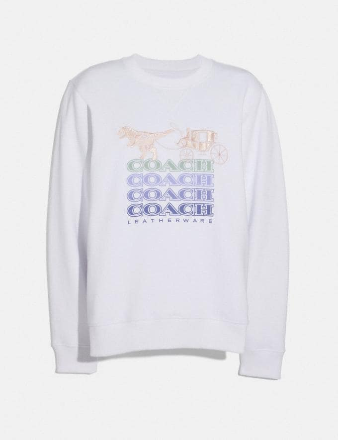 Coach Shadow Rexy and Carriage Sweatshirt Optic White