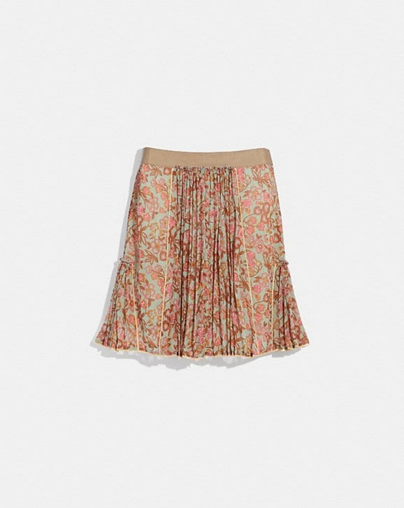Coach RETRO FLORAL PRINT PLEATED SKIRT