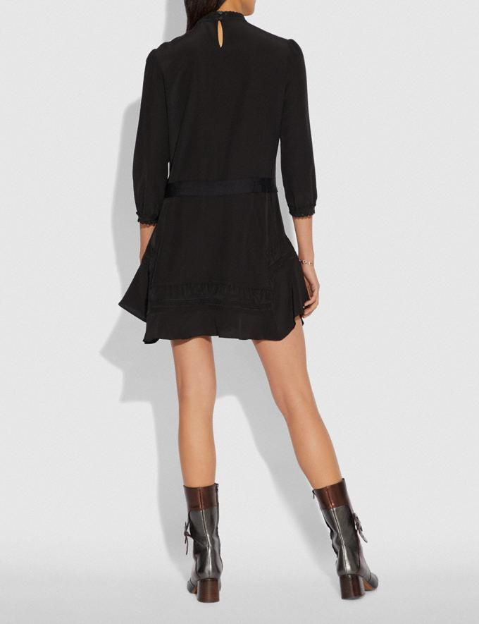 Coach Embroidered Dress Black  Alternate View 2