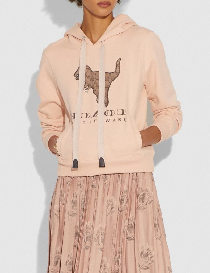 Coach Signature Rexy Sweatshirt Pink SALE Women's Sale Ready-to-Wear Alternate View 1