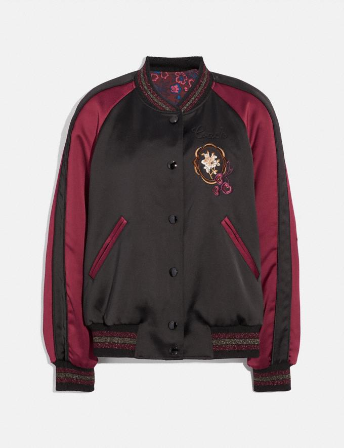 Coach Reversible Varsity Jacket Black/Wine