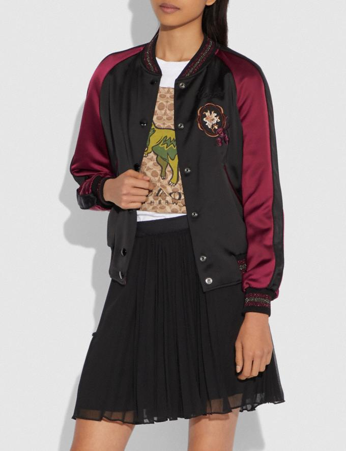 Coach Reversible Varsity Jacket Black/Wine  Alternate View 1