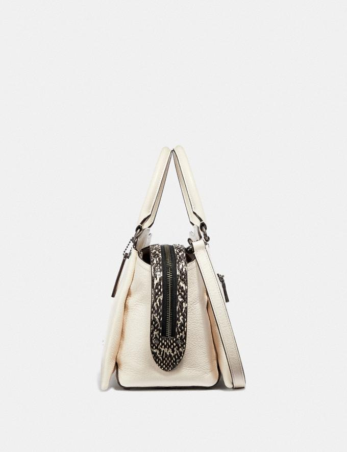 Coach Coach Drew Satchel With Snakeskin Detail Chalk/Gunmetal New Women's New Arrivals View All Alternate View 1