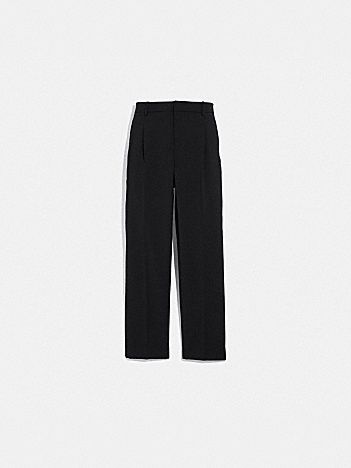 solid cropped tailored pants