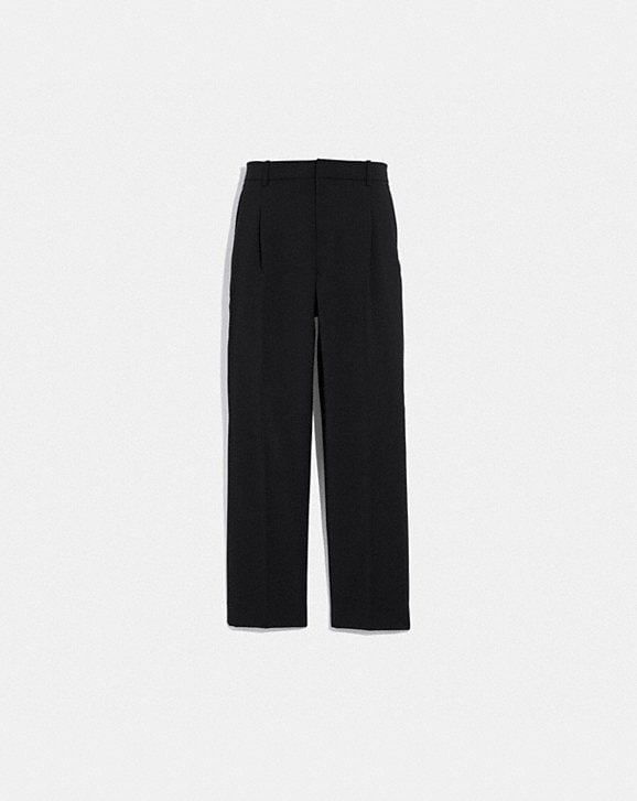 Coach SOLID CROPPED TAILORED PANTS